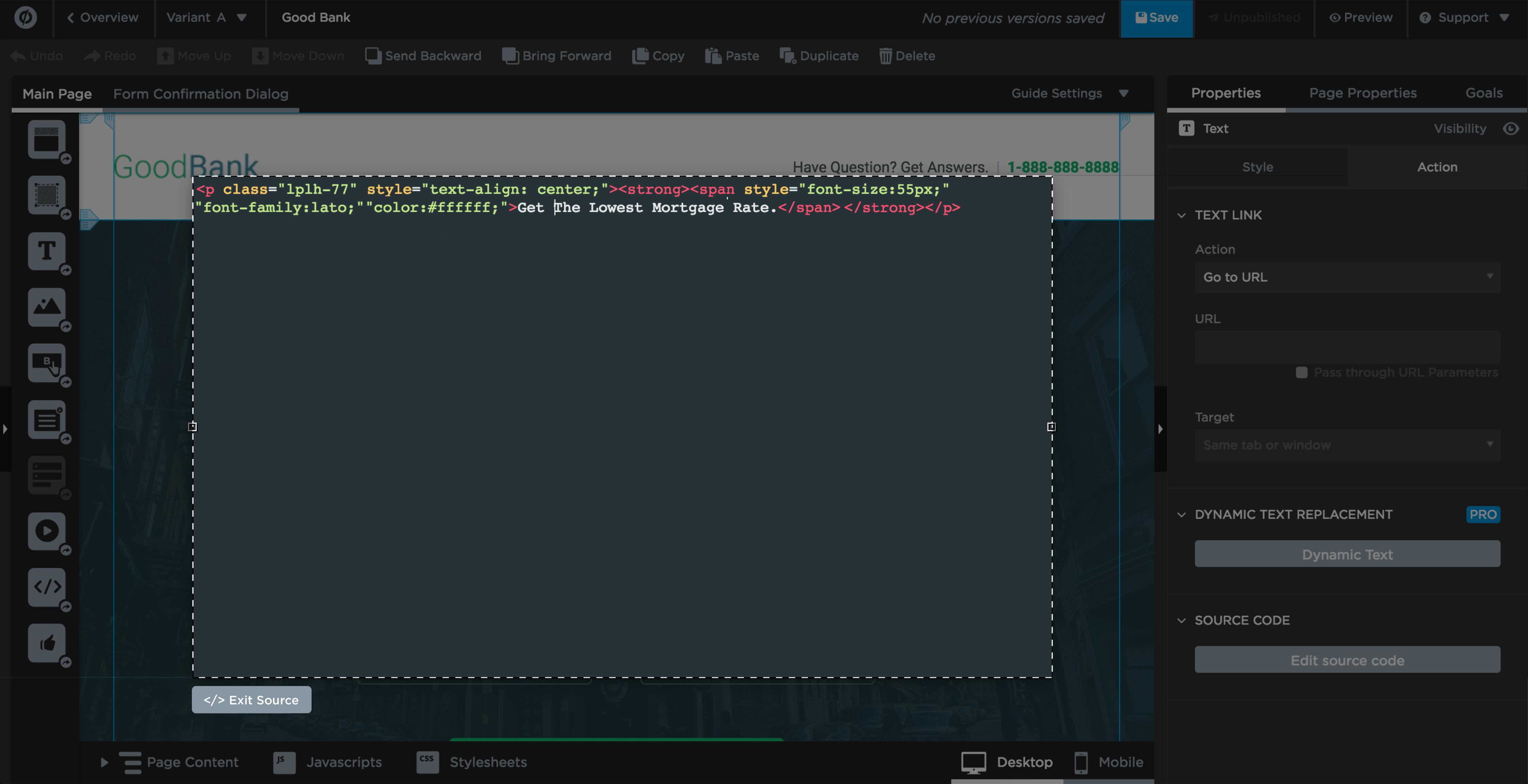 Source Mode Open